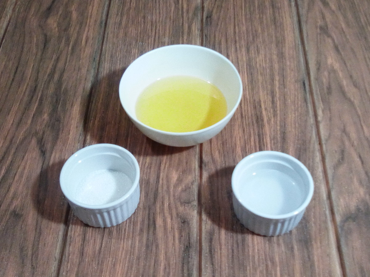 Five-ingredient vinaigrette dressing