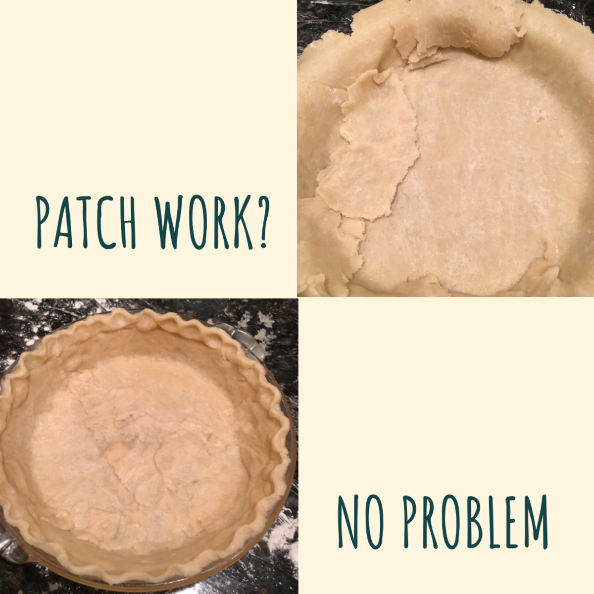 In an ideal world, our pie dough would come out just like on the cooking shows...