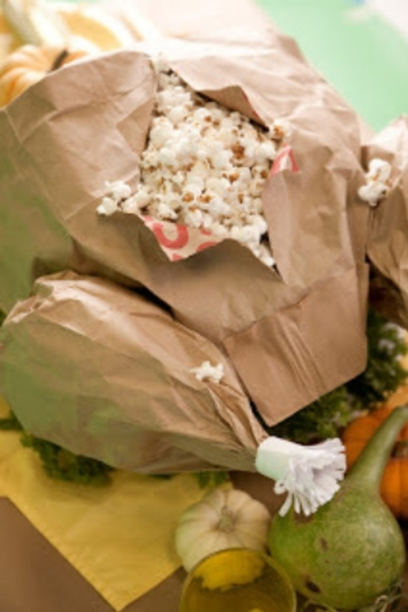 Thanksgiving Paper Bag Popcorn Turkey