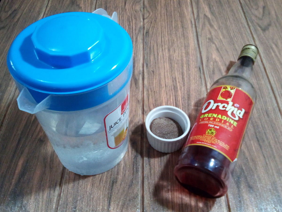 Homemade red iced tea