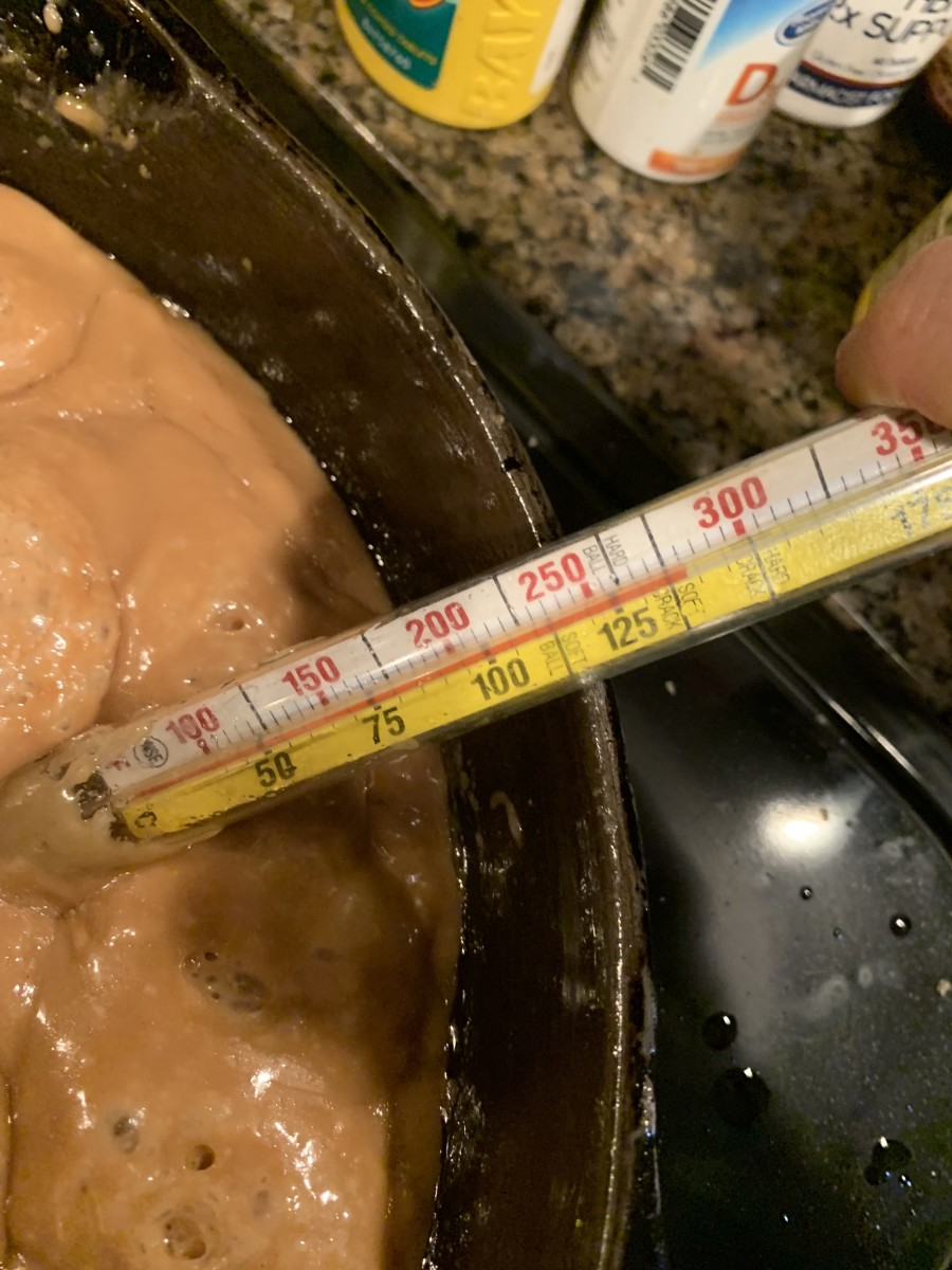 Step 5: Allow Toffee to Reach 285 Degrees F