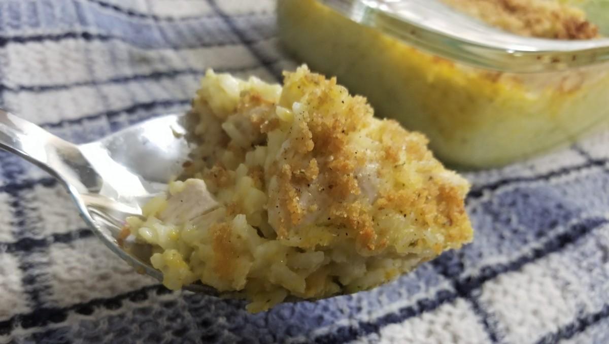 chicken, broccoli, and rice cheesy casserole