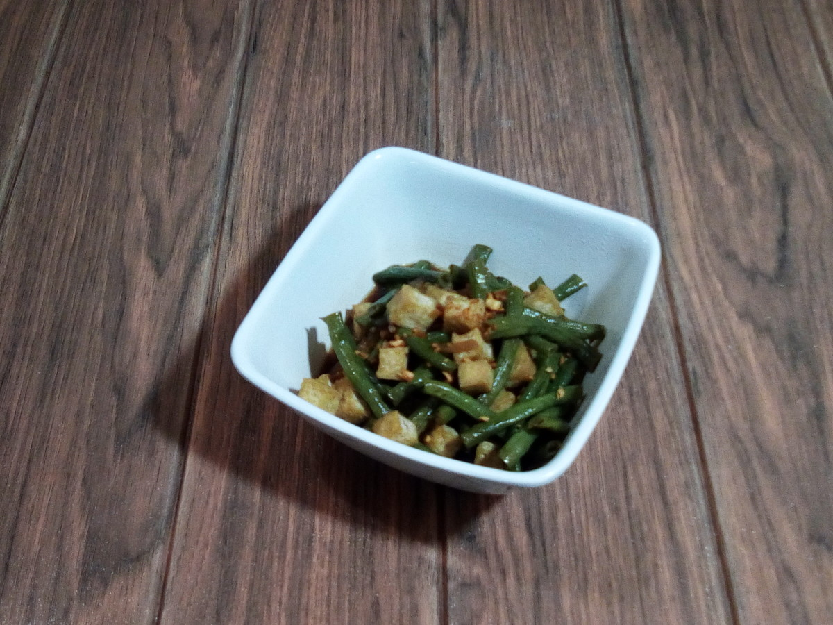 These adobo string beans are a Filipino recipe.