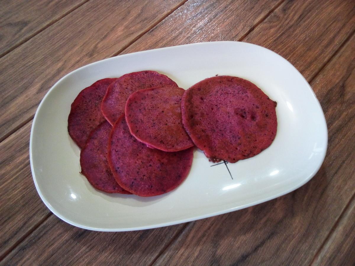 Dragon fruit pancakes without baking powder or baking soda