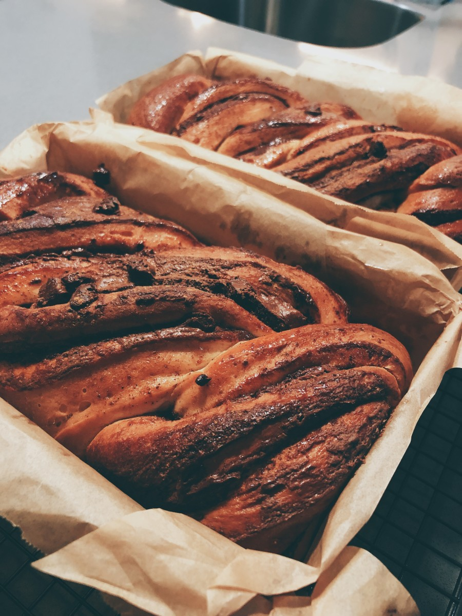 Yummy and scrumptious Nutella-filled babka.
