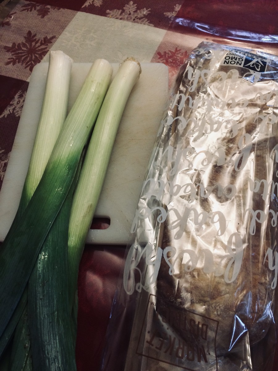 Leeks and some good dipping bread