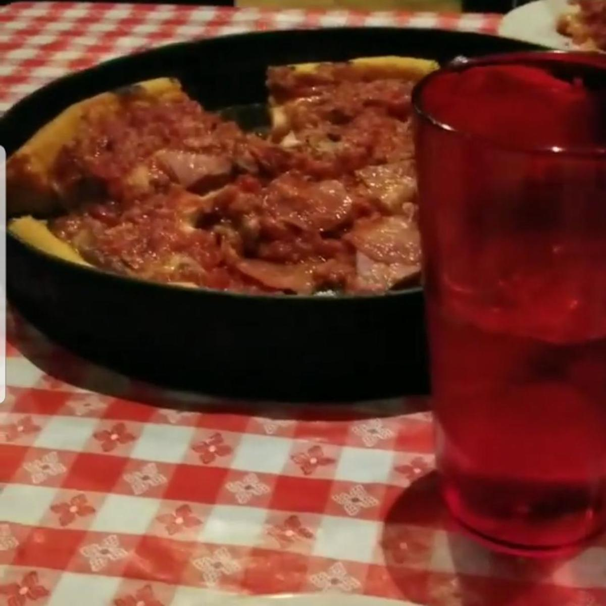 "Gino's ""Meat Lovers"" is a fan favorite. Filled to the brim with cheese, sausage, and ground beef."