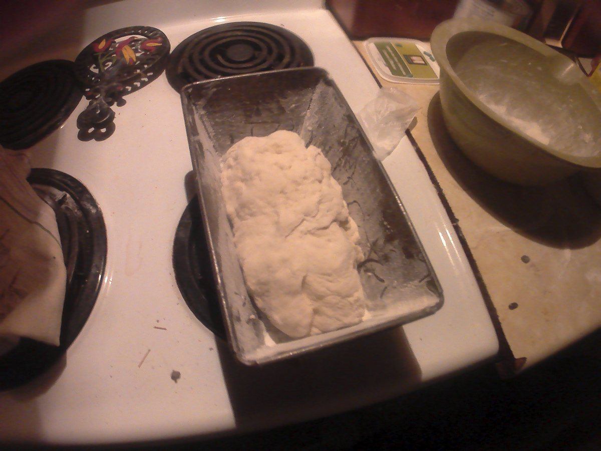 Bread dough before second rising.