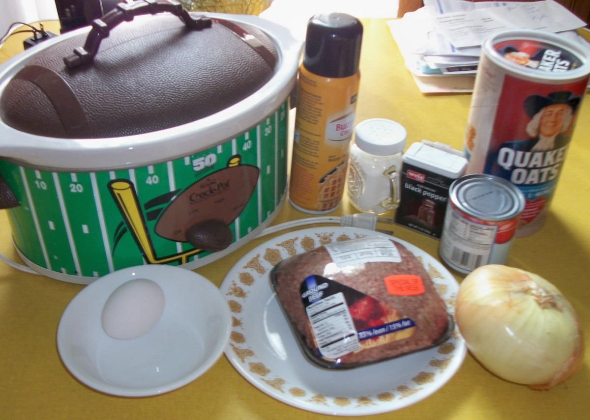 Getting ready to make a meatloaf using my Crock-Pot