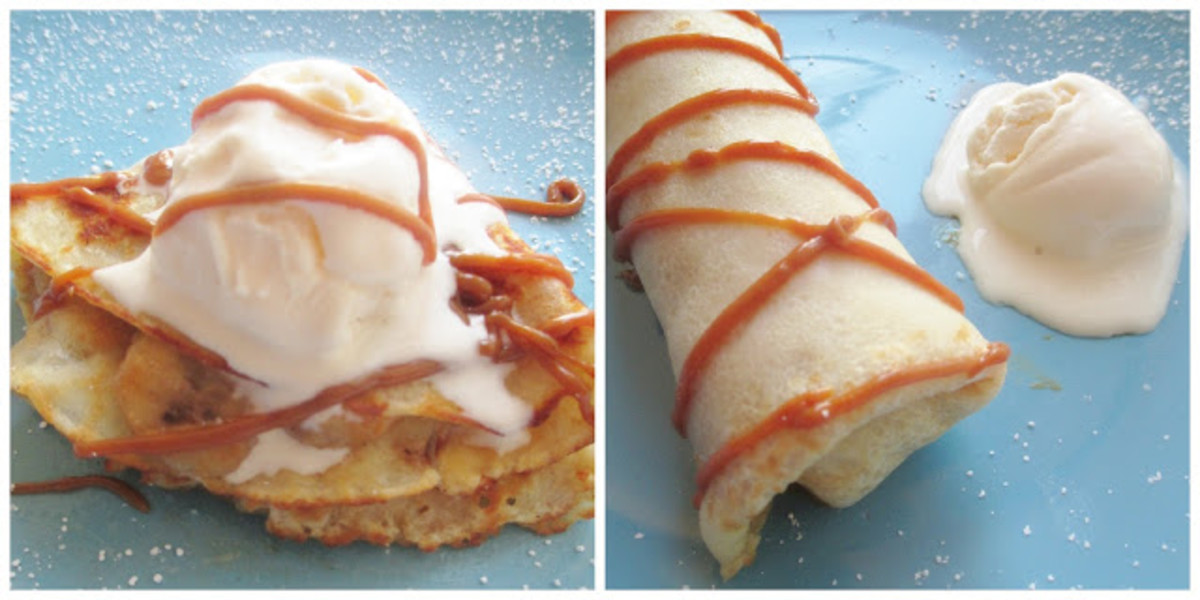 Or spread inside a crepe and then drizzle more on top!