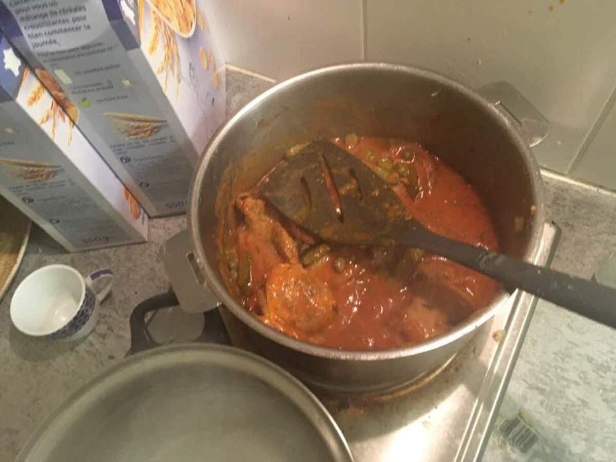 pork in the marinade