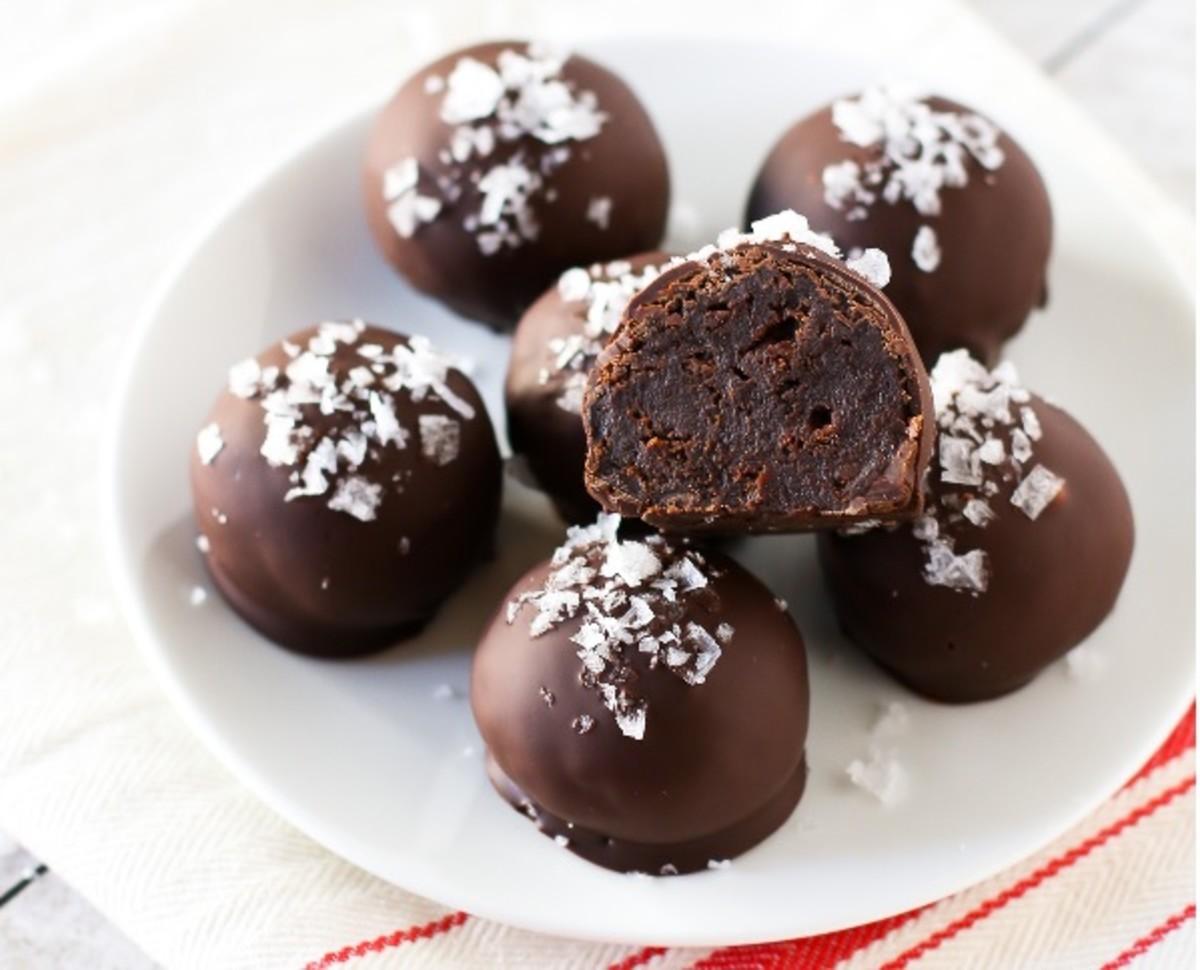 Triple Chocolate Brownies Truffles