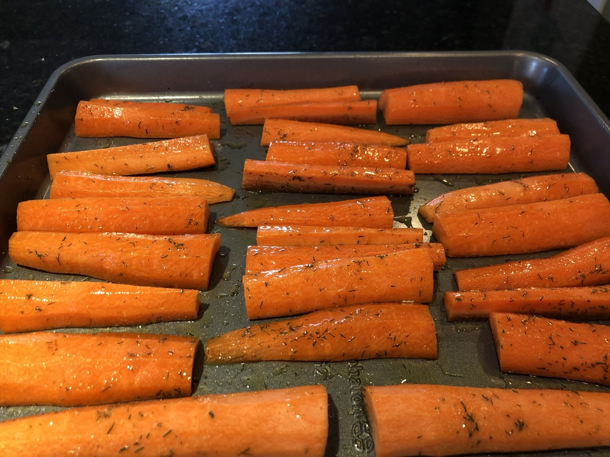 These carrots are ready for the oven!