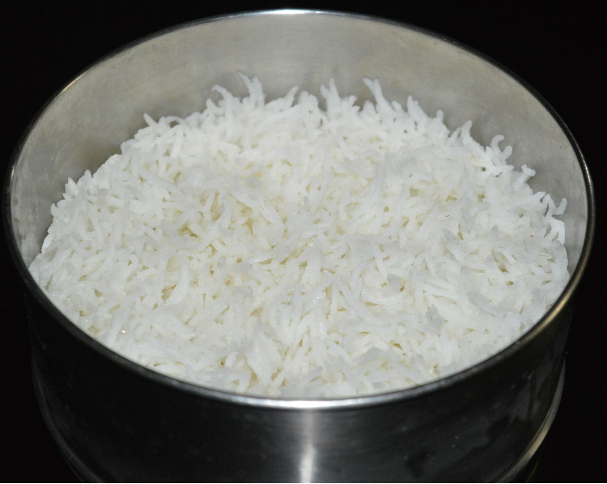 Step one: Cook rice al dente.