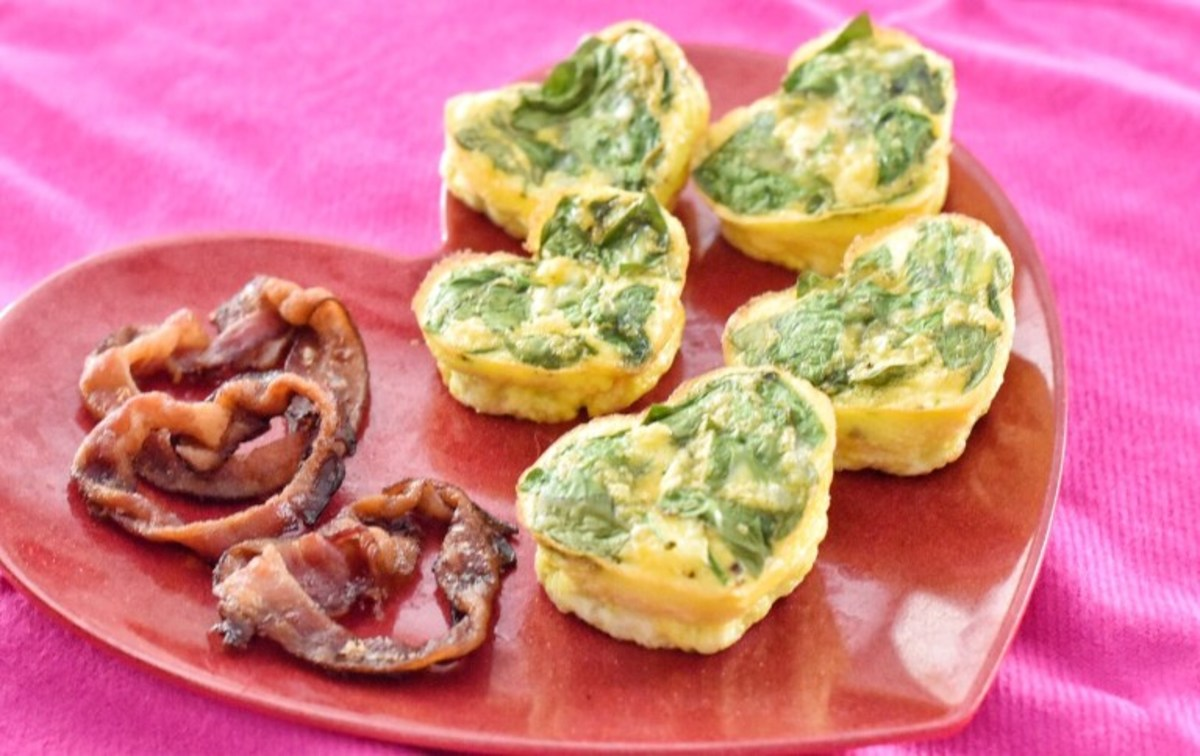 Heart-Shaped Mini Quiches