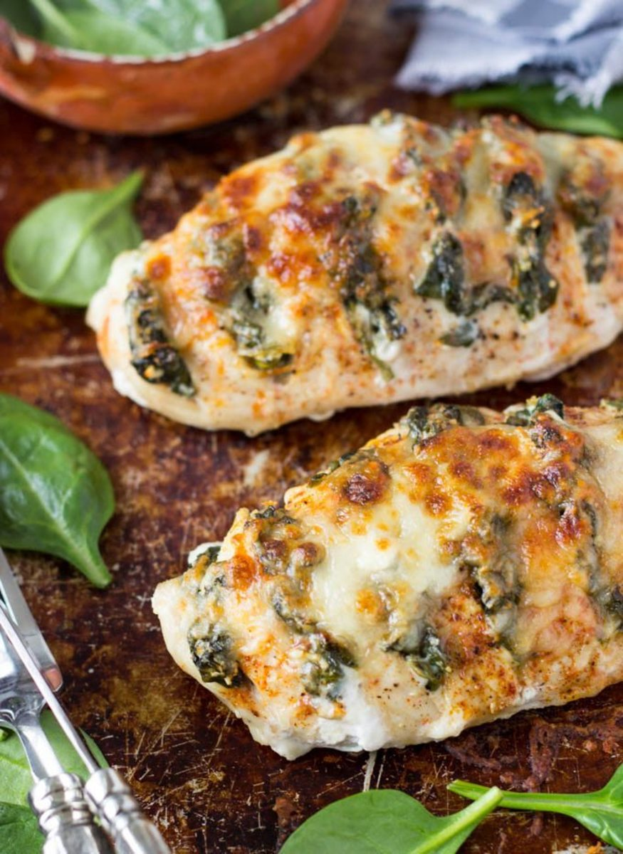 Spinach and Goat Cheese Hasselback Chicken