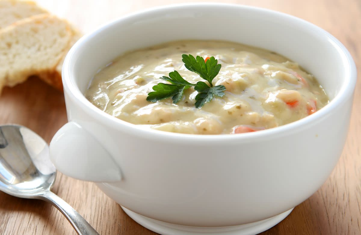 Cream of Chicken Soup has an appealing flavor and texture