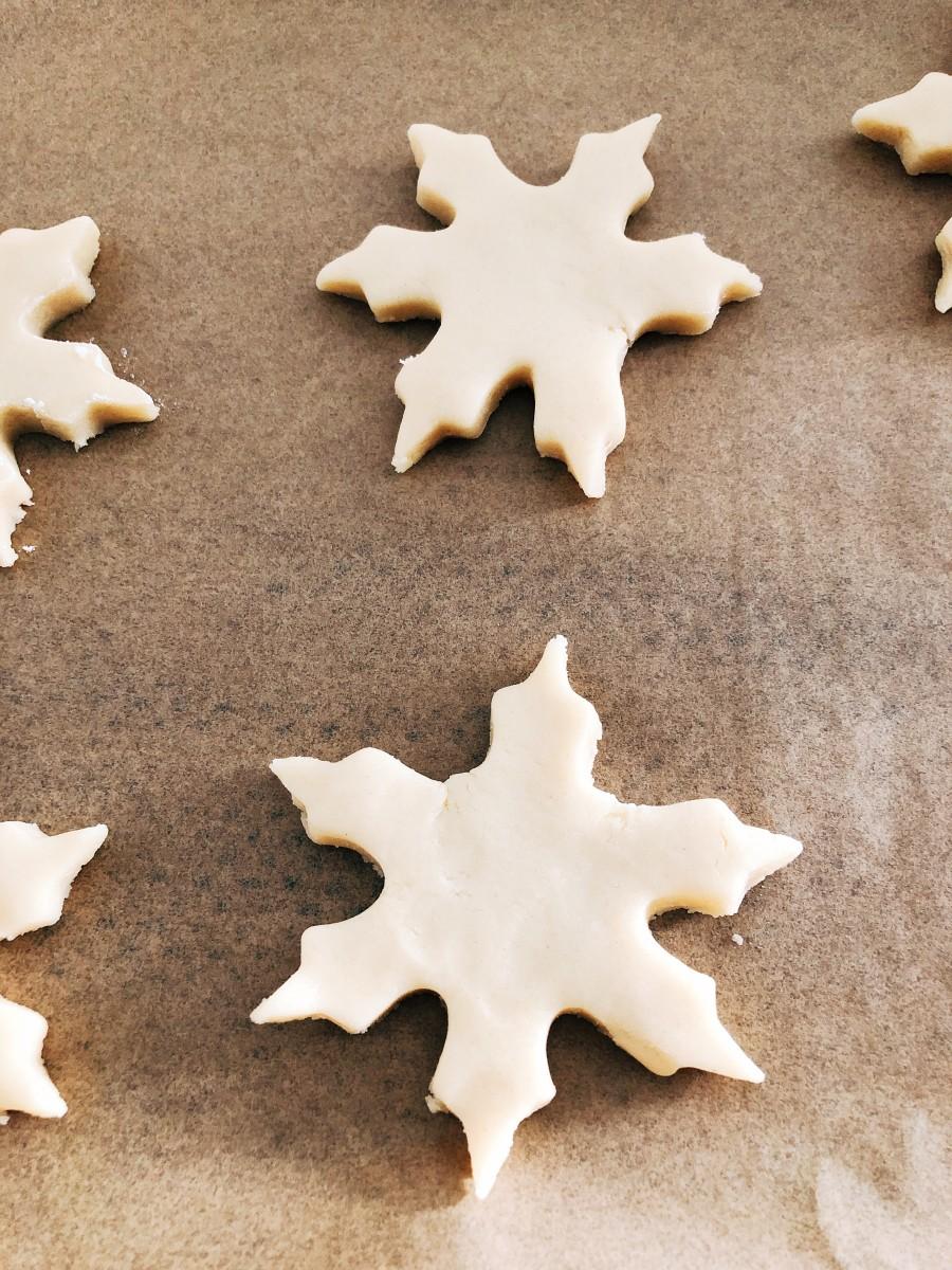 Snowflakes shapes.