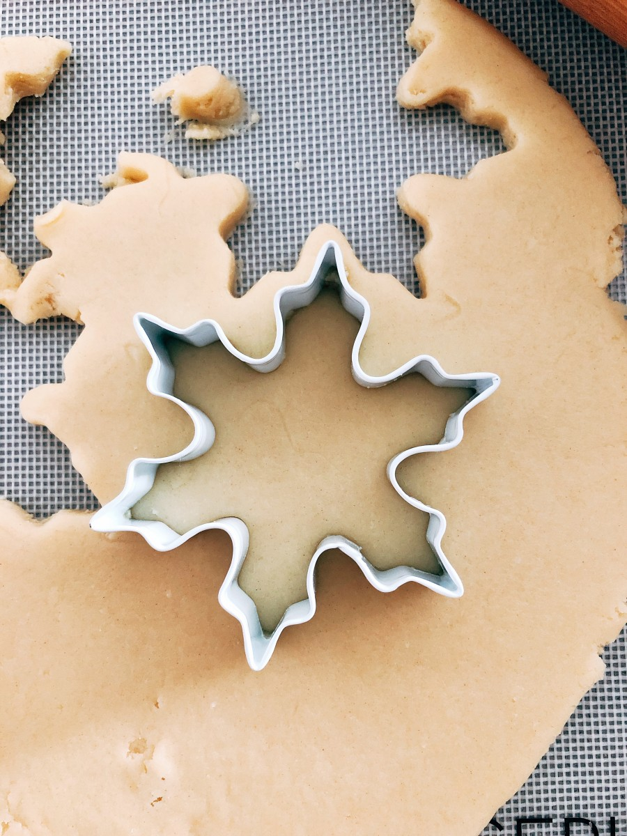 Shape the dough with a cookie cutter.