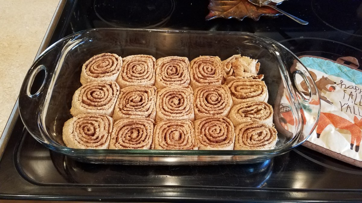 When your cinnamon rolls come out, wait for them to cool a bit before spreading them with icing. Enjoy!