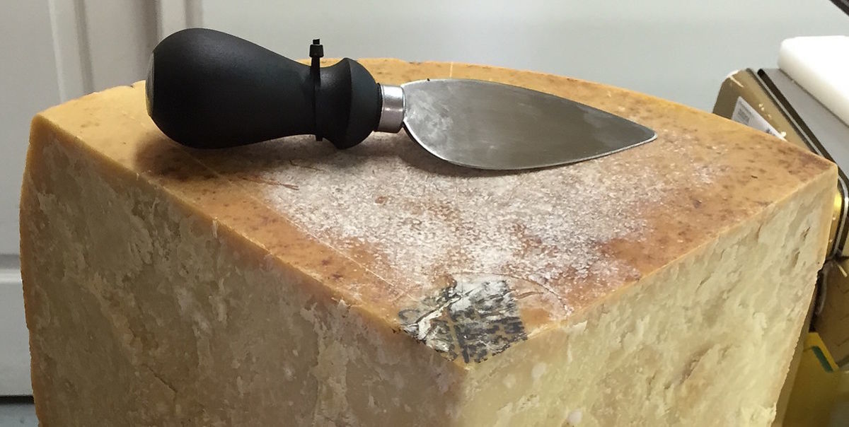 The knife traditionally used to cut Parmesan is called the tagliagrana.