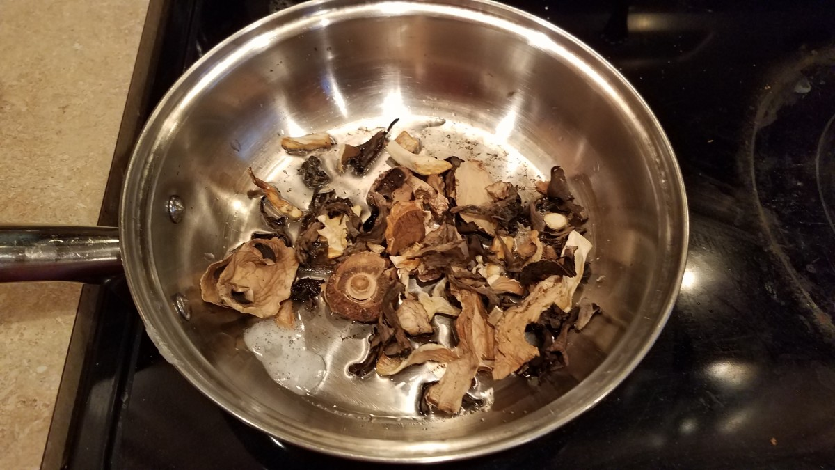 Add your mushrooms and saute for a few minutes, stirring well to coat them all in oil and cook them evenly.