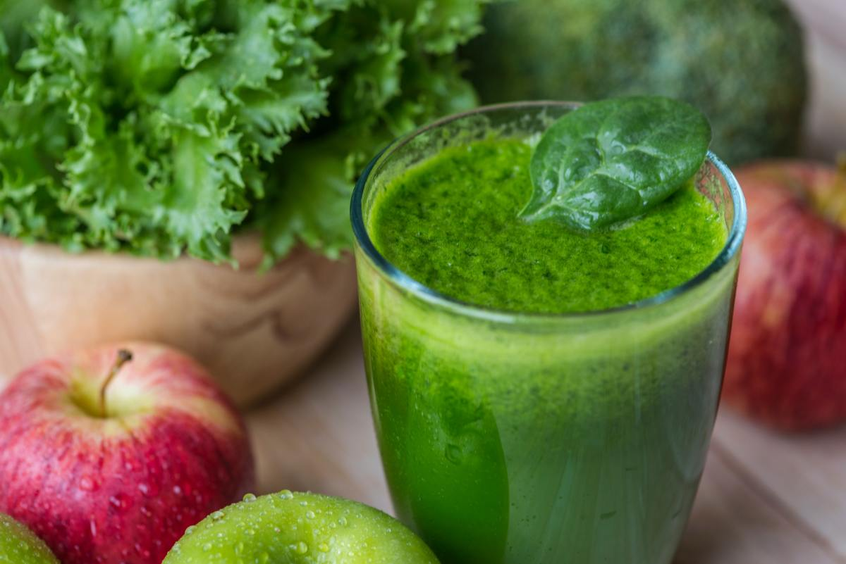 A raw green smoothie.