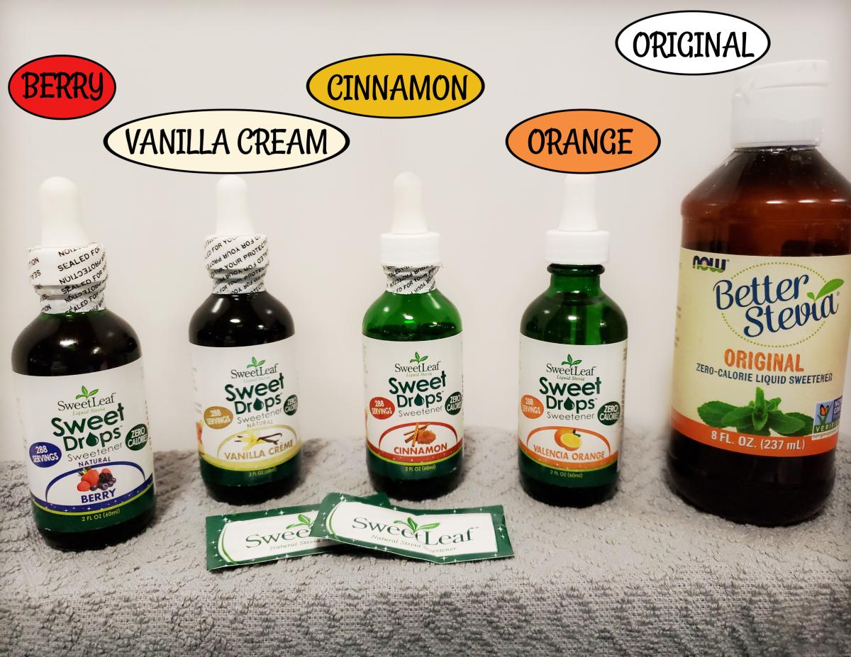 My favorite Liquid Stevia Flavors