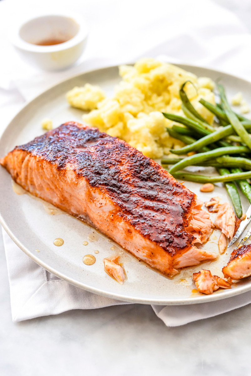 Maple-Crusted Salmon