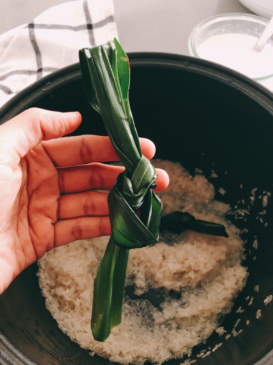 Pandan leaves are used to make fragrant coconut rice.
