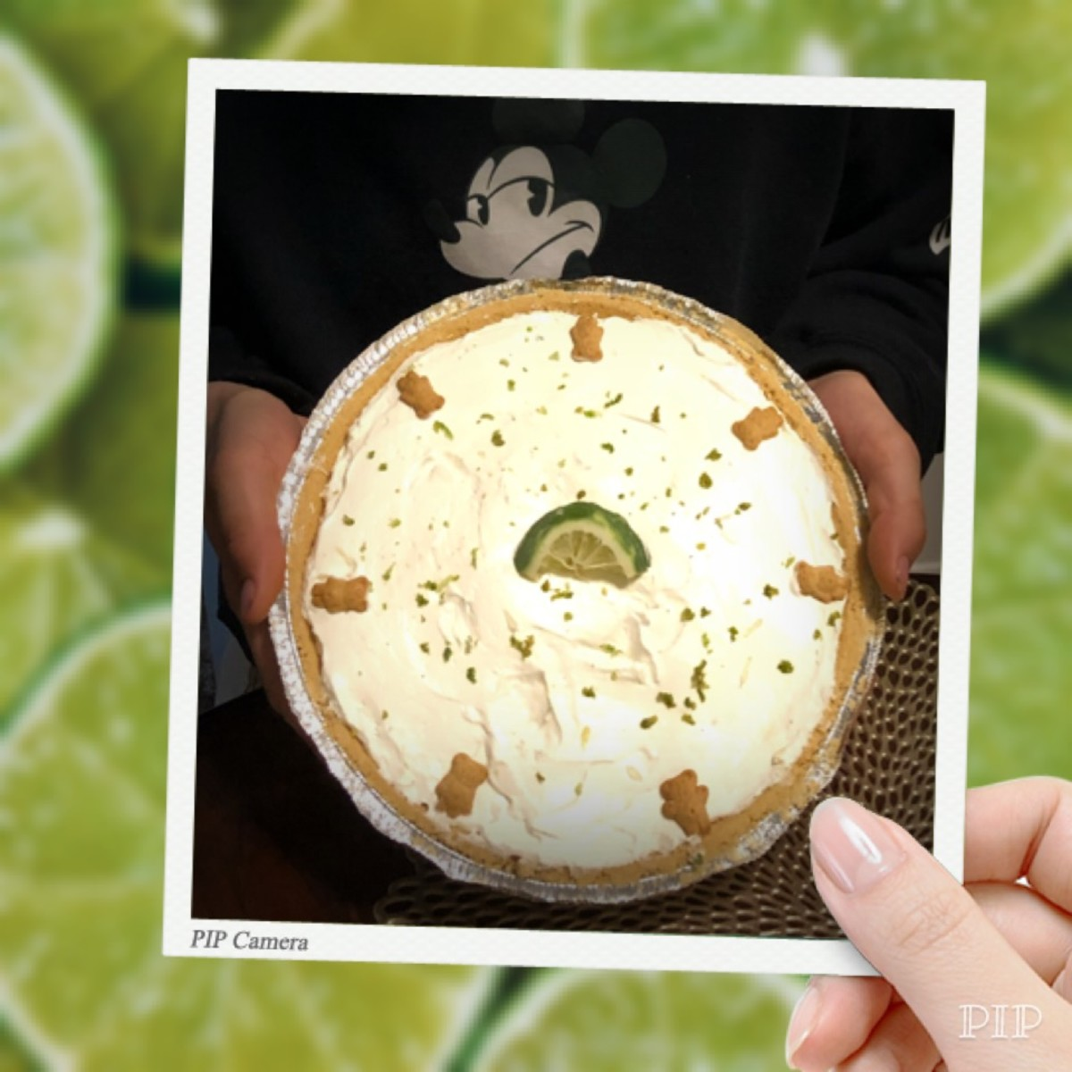 A happy birthday key lime cheesecake