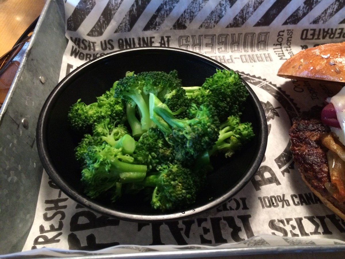 Close-up of steamed broccoli