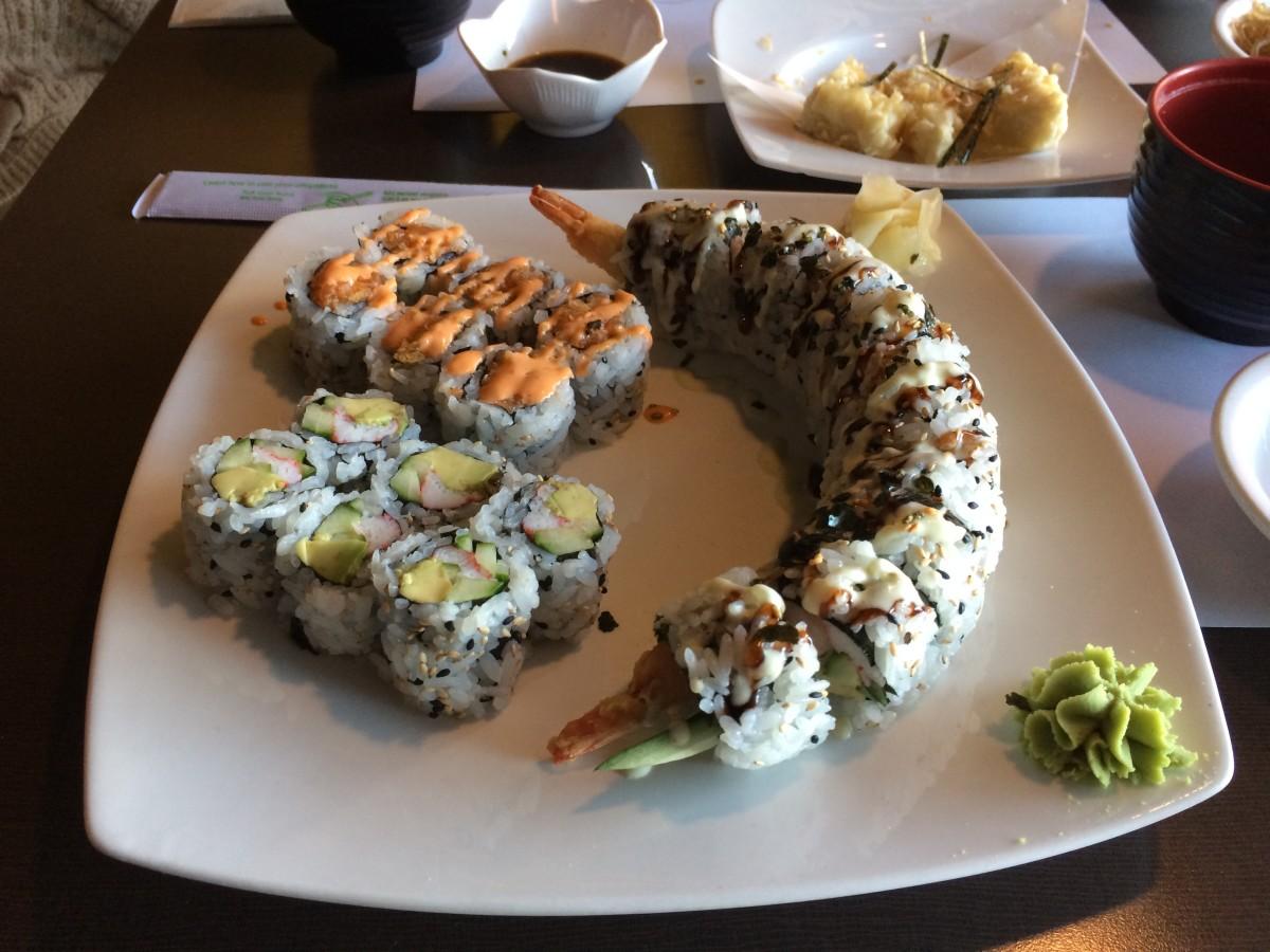 The sushi combo B