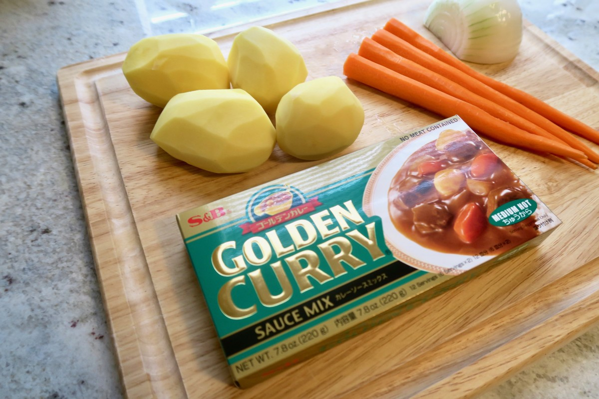 Golden potatoes and white onions are the best choices for this recipe. Try to use the thickest carrots you can find. Asian markets are a great place to look.