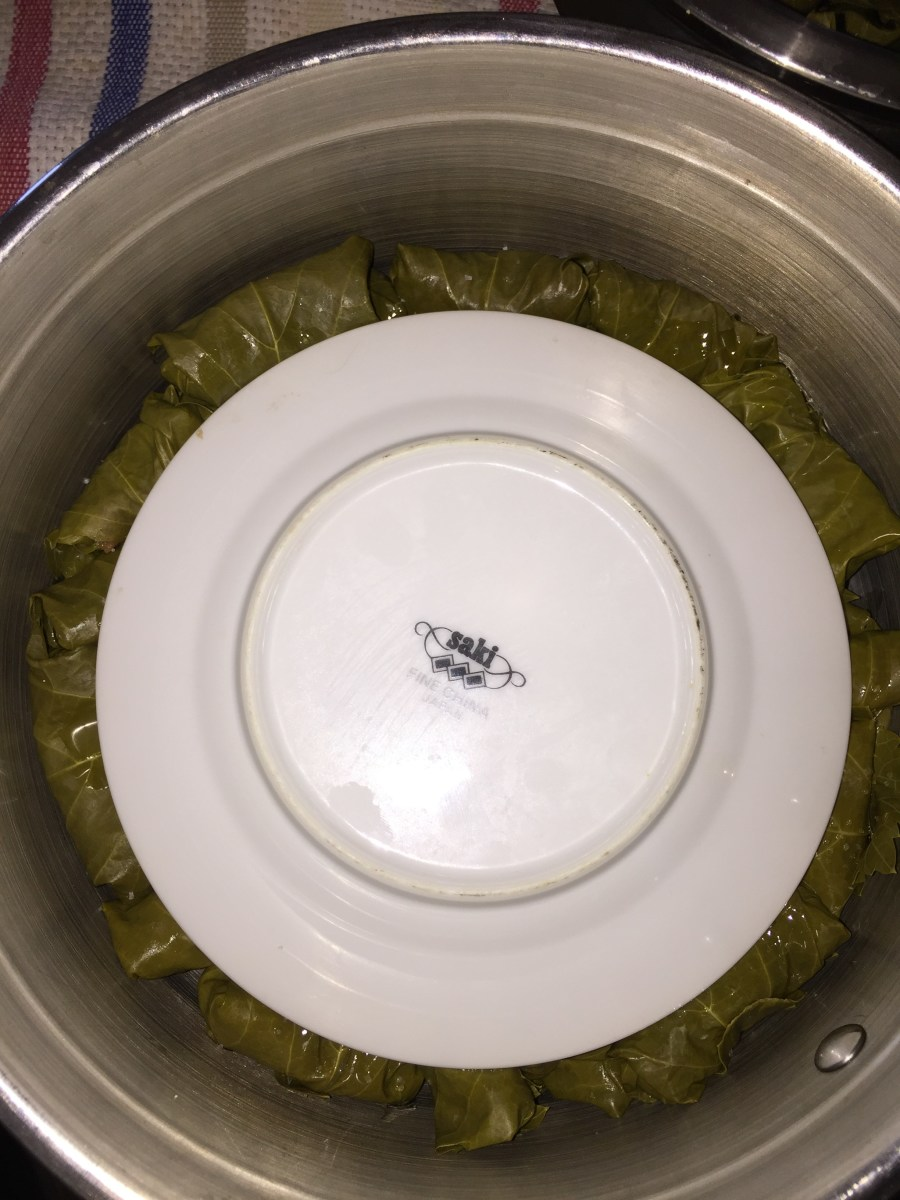 Step 6: Fill pot with water and place a plate on top.