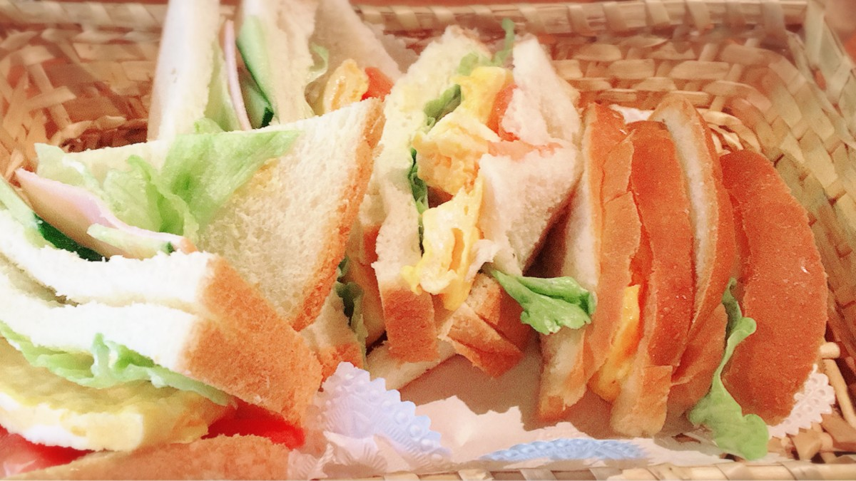 A mixed sando (made by a kissaten owner in her 90s)