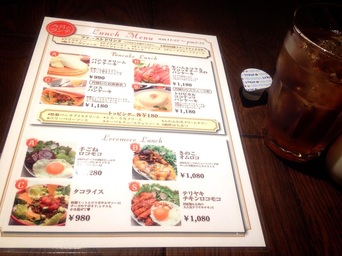 An example of a café menu