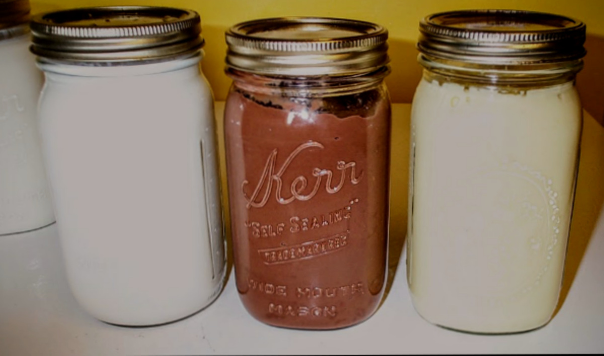 Chocolate and vanilla are compared here with the whiteness of goat's milk.