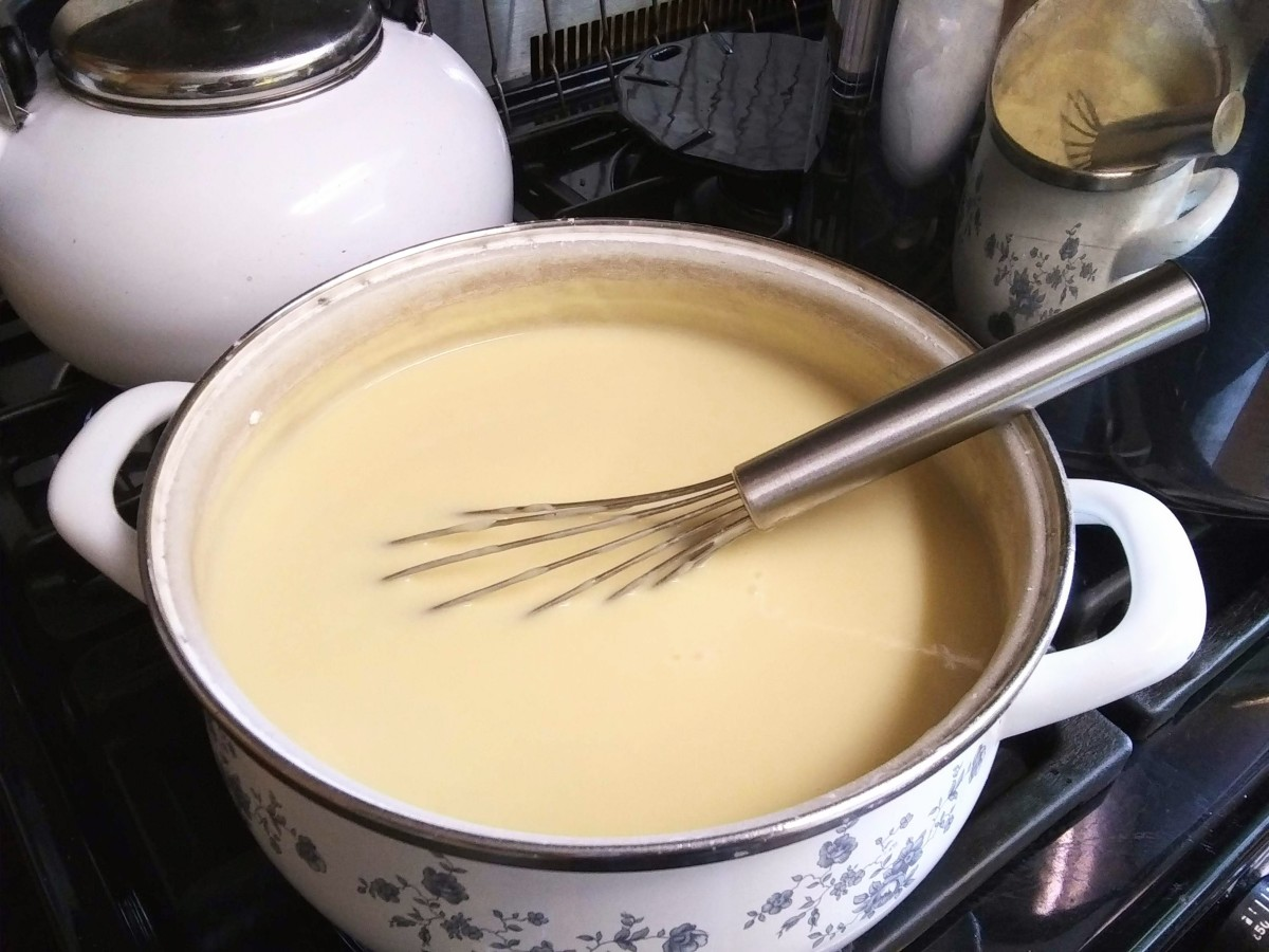 This custard is ready to eat! It may be served hot or cold, as you wish.