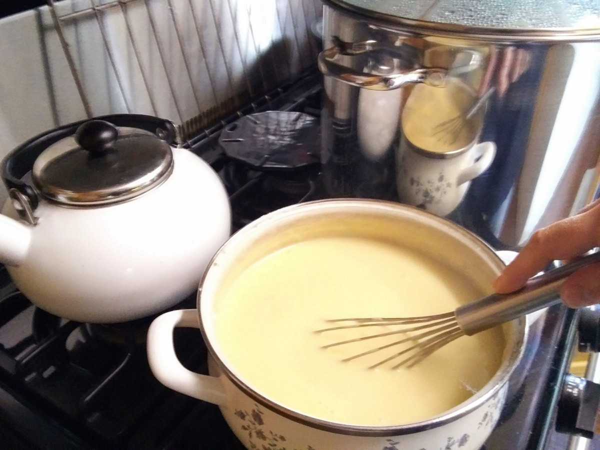 Stir until butter is melted and there are no streaks remaining.