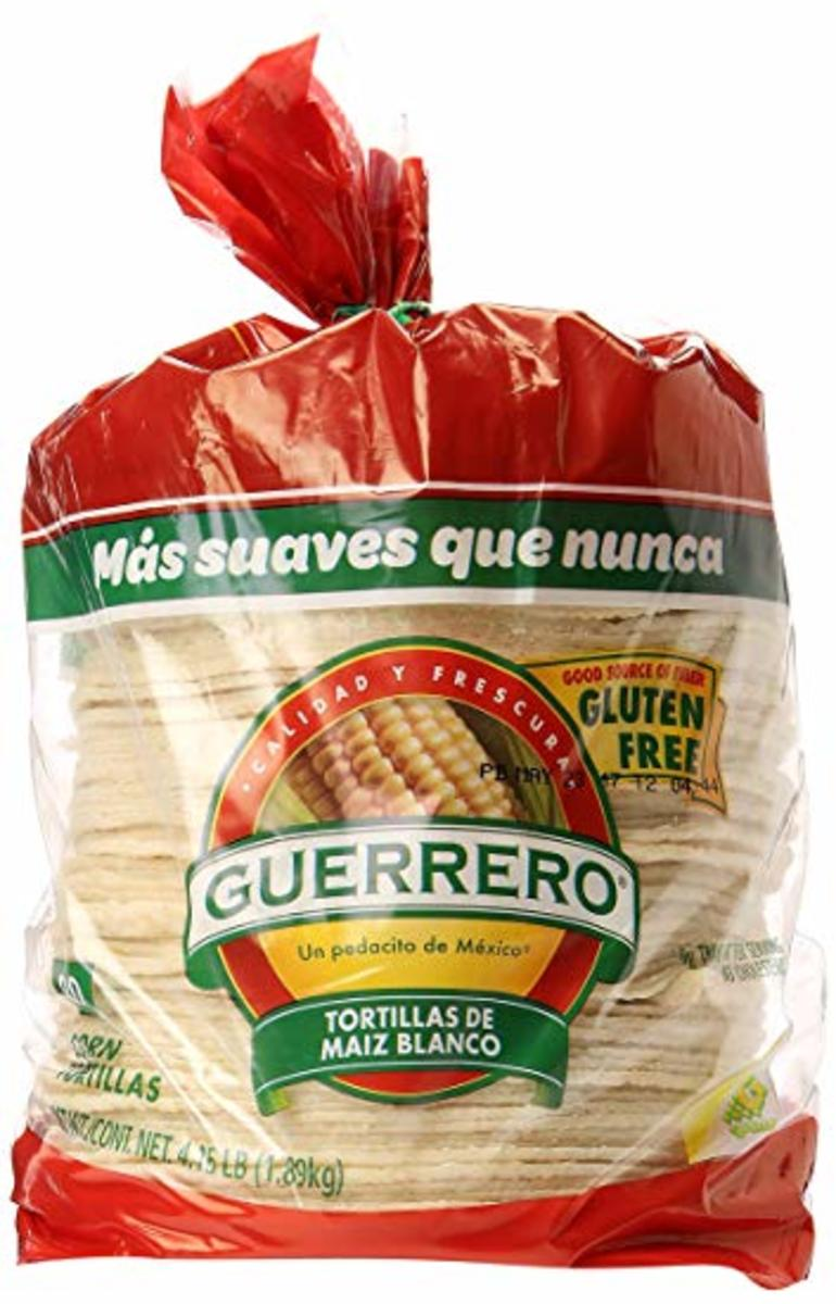 These are my favorite corn tortillas. They're delicious and come in packs of 80.