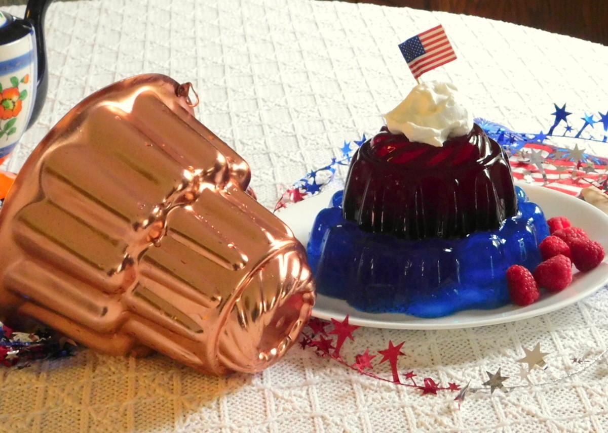 Successful unmolding of a Jell-O dessert