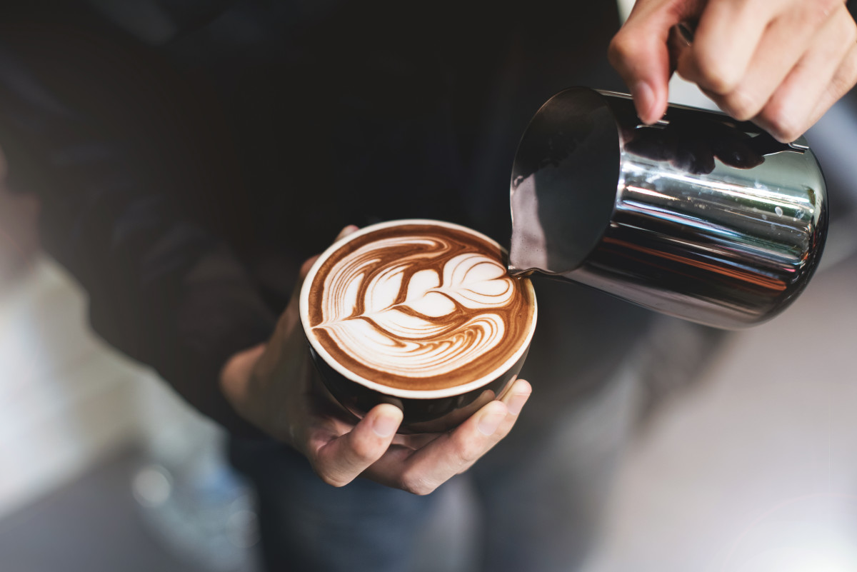 "These days, many baristas adorn the foam atop cappuccinos and lattes with designs known as ""latte art."""