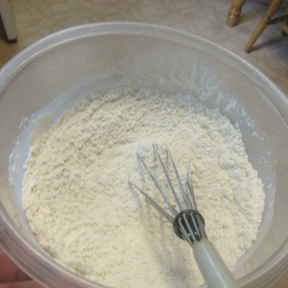 Whisk the flour mixture.