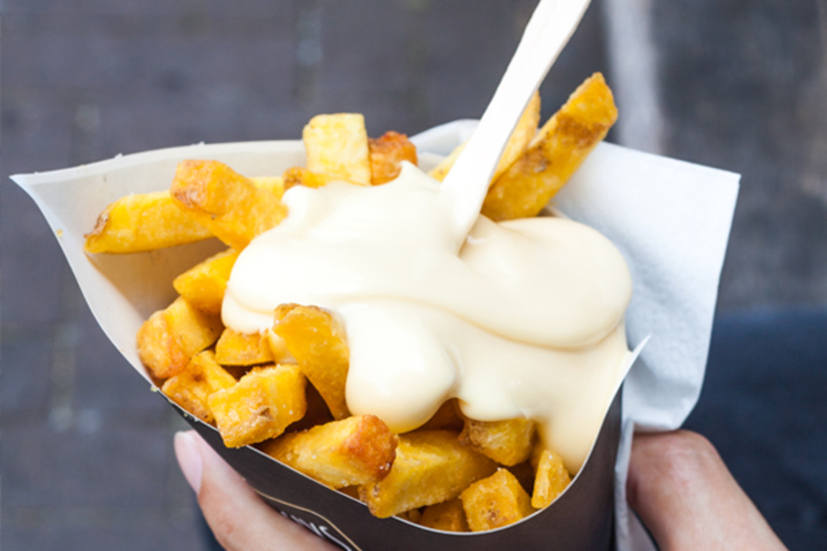 French fries with fritessaus