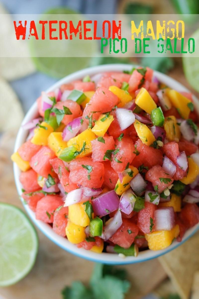 watermelon and mango pico de gallo