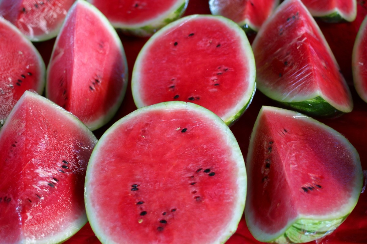 lots of beautiful watermelons