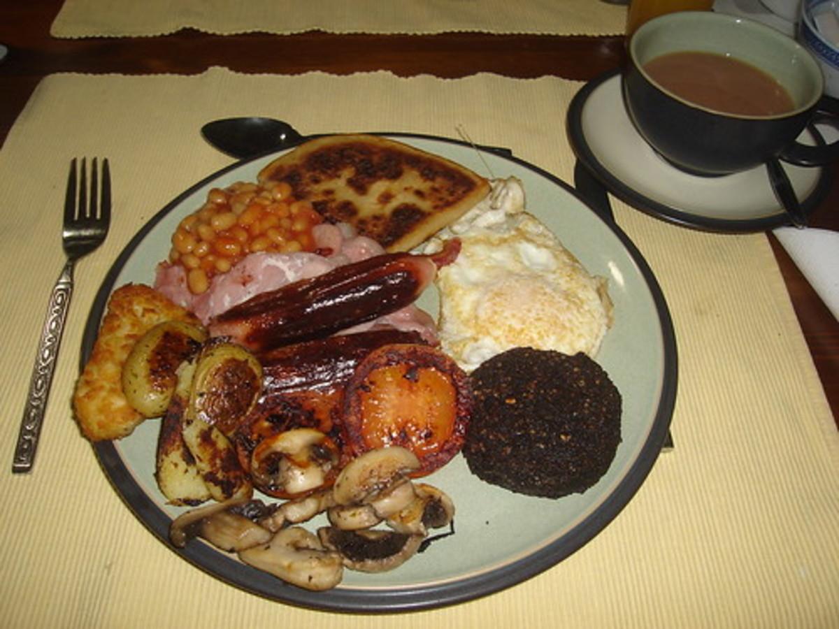 The famous full Scottish breakfast