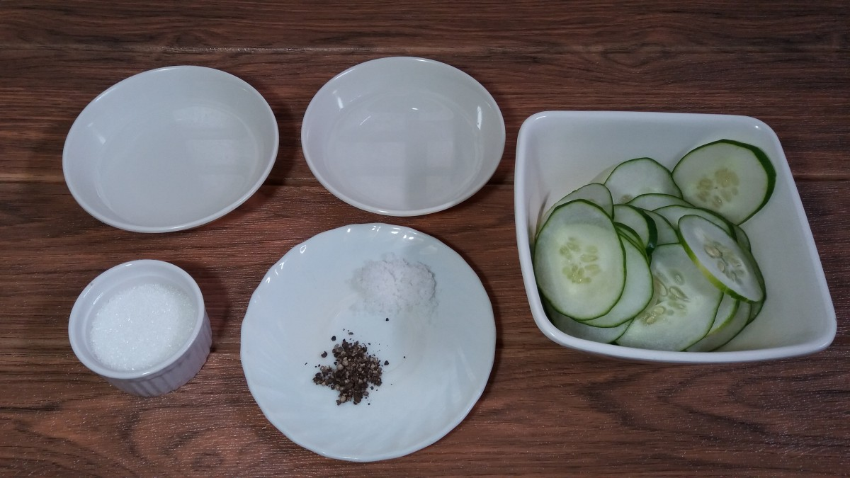 Ingredients for pickled cucumbers