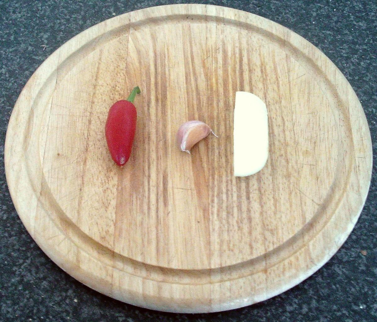Chilli, garlic and onion